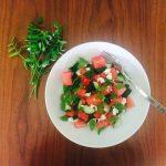Lebanese Cress, Watermelon, Cucumber and Fetta Salad
