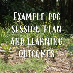 example pdc session plan and learning outcomes